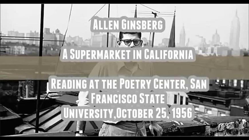 """Supermarket in California"" by Allen Ginsberg large"
