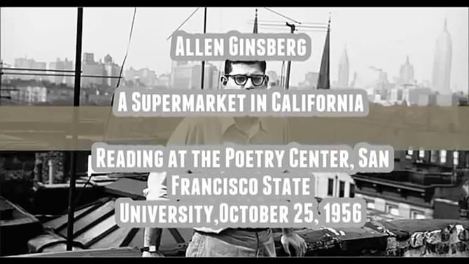 """Supermarket in California"" by Allen Ginsberg medium"