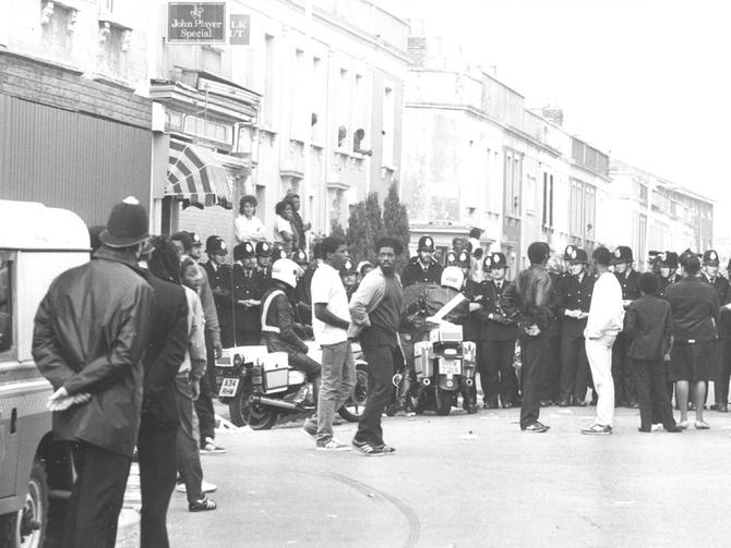 london riot in 1980 medium