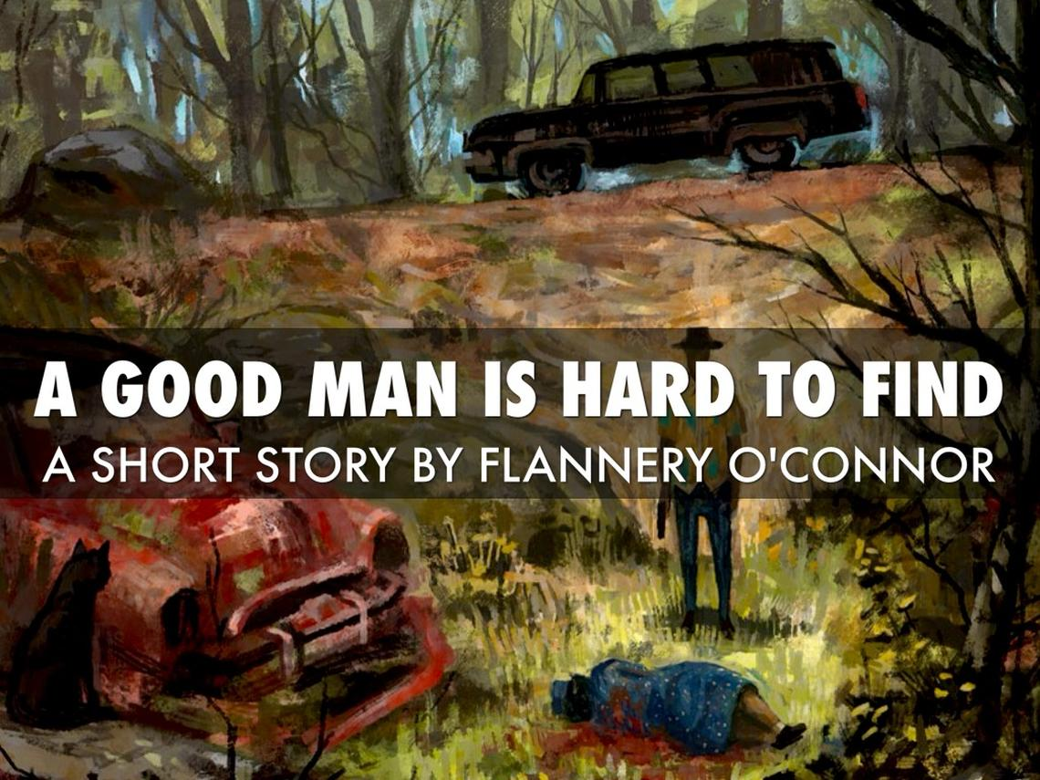 "A cover of the book by Flannery O'Connor ""A Good Man is Hard to Find"" large"