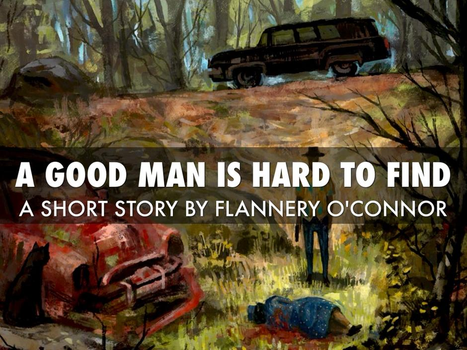 "A cover of the book by Flannery O'Connor ""A Good Man is Hard to Find"" medium"