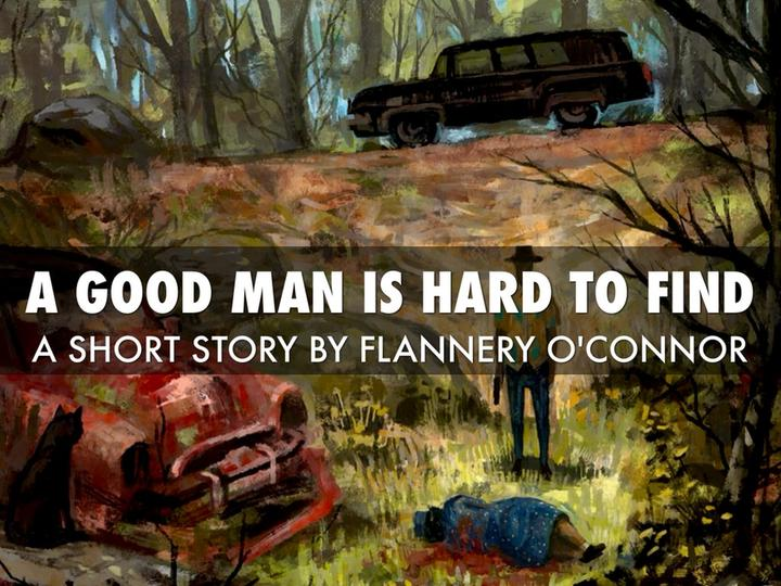 "A cover of the book by Flannery O'Connor ""A Good Man is Hard to Find"" small"