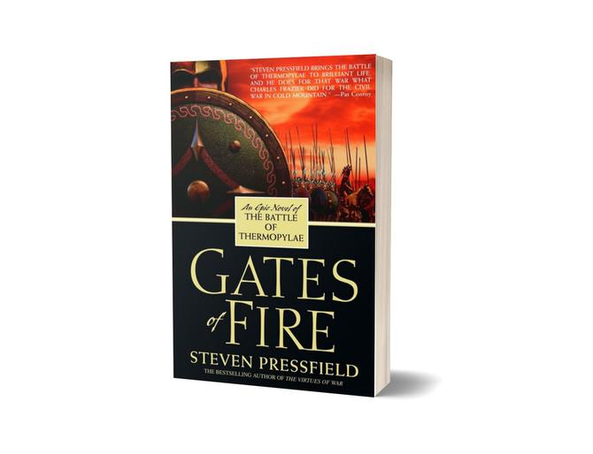 "Steven Pressfield ""Gates of Fire""  medium"